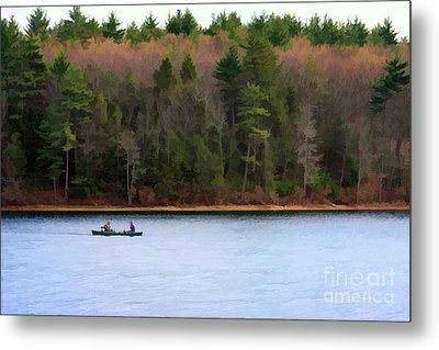On Walden Pond Metal Print by Jayne Carney