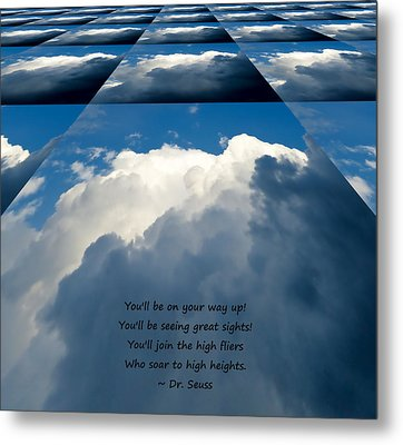 On Your Way Up Metal Print