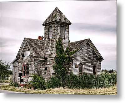 Once A Church Metal Print by Olivier Le Queinec