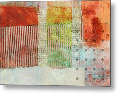 Once Again Abstract Art Metal Print by Ann Powell