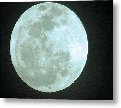 Once In A Blue Moon Metal Print by David Rizzo