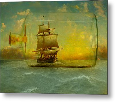 Once In A Bottle Metal Print by Jeff Burgess