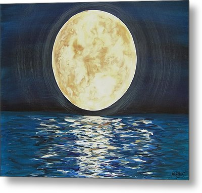 Once In A Very Blue Moon Metal Print by Cindy Micklos