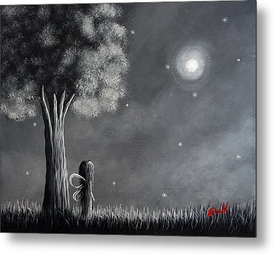 Once Upon A Dreamy Night Original Fairy Art Metal Print by Shawna Erback