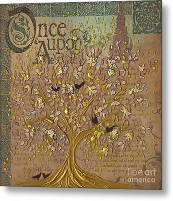 Once Upon A Golden Garden By Jrr Metal Print