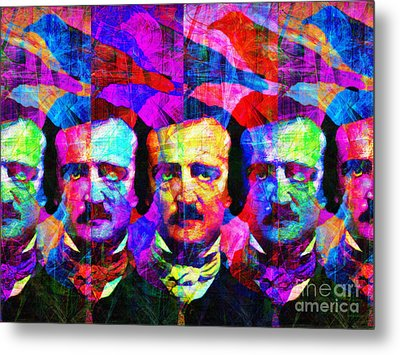 Once Upon A Midnight Dreary 20140118 Metal Print by Wingsdomain Art and Photography