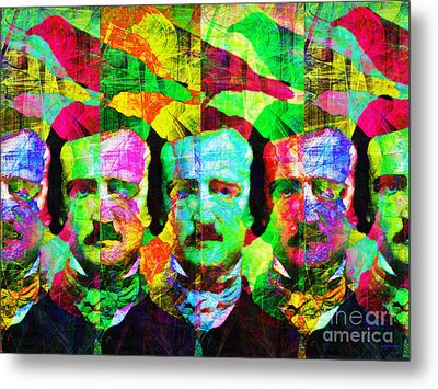 Once Upon A Midnight Dreary 20140118p128 Metal Print by Wingsdomain Art and Photography