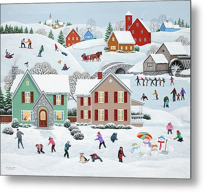 Once Upon A Winter Metal Print by Wilfrido Limvalencia