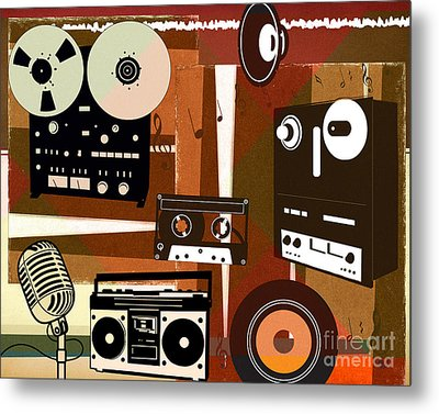 Once Upon Audio Metal Print by Bedros Awak