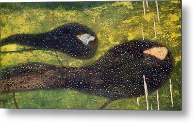 Ondine Metal Print by Gustav Klimt