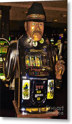 One Arm Bandit Slot Machine 20130308 Metal Print by Wingsdomain Art and Photography