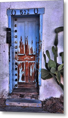Metal Print featuring the photograph One Can Never Feel Too Safe by Barbara Manis
