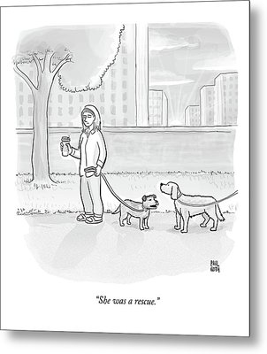 One Dog Talks To Another Metal Print by Paul Noth