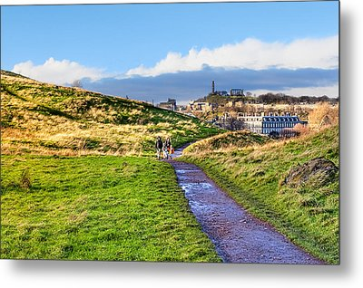 One Golden Day In Edinburgh's Holyrood Park Metal Print by Mark E Tisdale