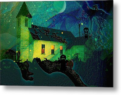One Hallowed Evening Metal Print by Shirley Sirois