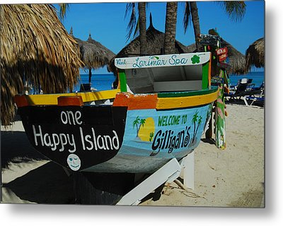 One Happy Island Metal Print