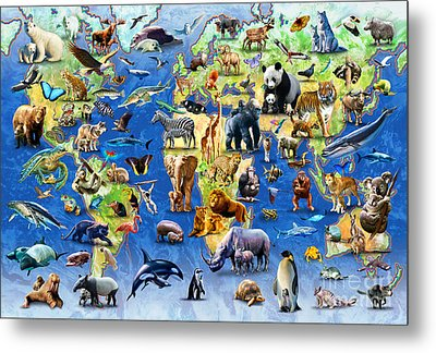 One Hundred Endangered Species Metal Print