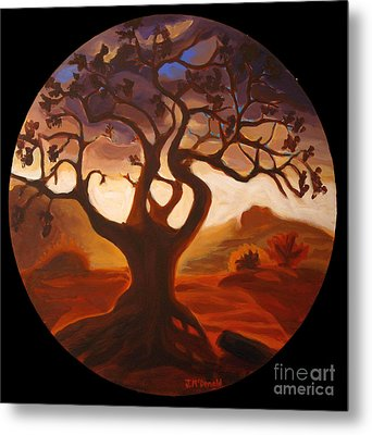 Metal Print featuring the painting One by Janet McDonald