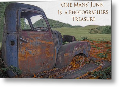 One Mans' Junk Metal Print by Marion Johnson