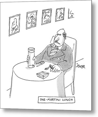 One-martini Lunch Metal Print