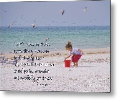 One Moment In Time Metal Print by Peggy Hughes