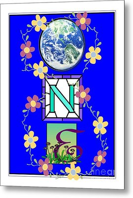 Metal Print featuring the digital art Universal One-ness by Bobbee Rickard