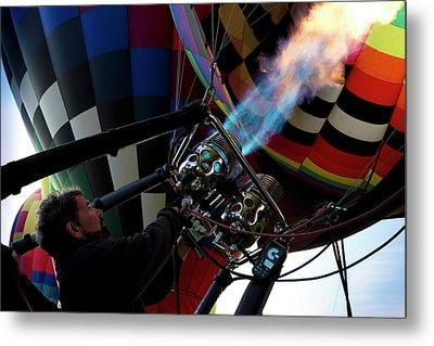 One Of Many Balloons Being Prepared Metal Print by Maresa Pryor