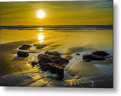 One Oregon Coast Sunset Metal Print by Puget  Exposure