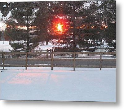 One Rare Winter Sunset Metal Print