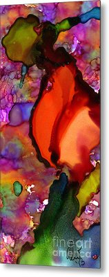 One Red Rose Metal Print by Angela L Walker