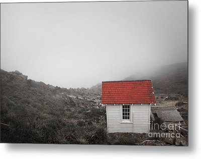 Metal Print featuring the photograph One Room In A Fog by Ellen Cotton