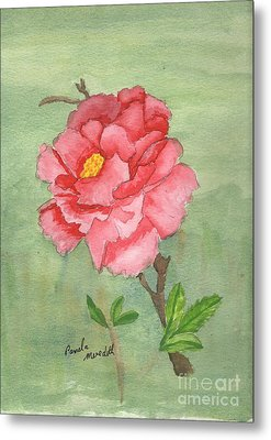 One Rose Metal Print