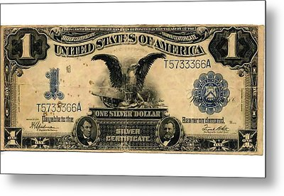 One Silver Dollar Metal Print by Lanjee Chee