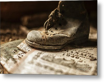 One Single Shoe Metal Print by Terry Rowe