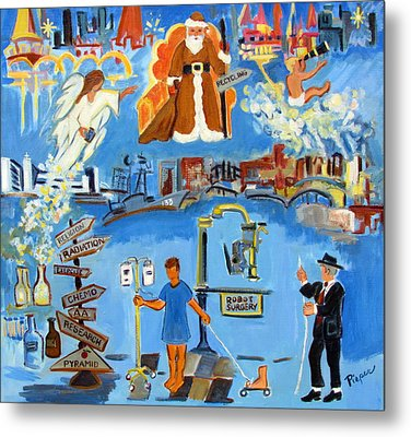 One Step Ahead Of The Undertaker In A Johnny Coat  Metal Print by Betty Pieper