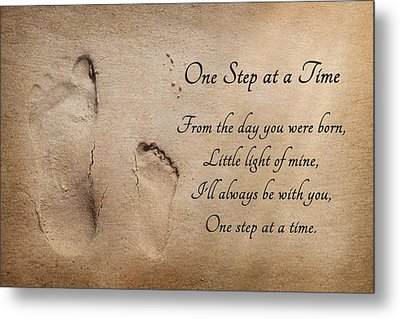 One Step At A Time Metal Print by Lori Deiter