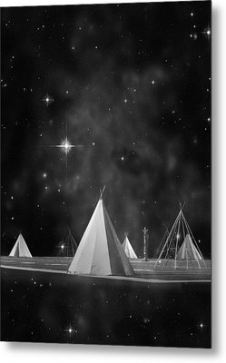 One Tribe Bw Metal Print by Laura Fasulo