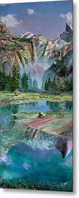One With Nature Metal Print by Sarabjit Singh