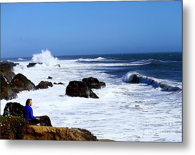 Metal Print featuring the photograph One With The Ocean by Theresa Ramos-DuVon