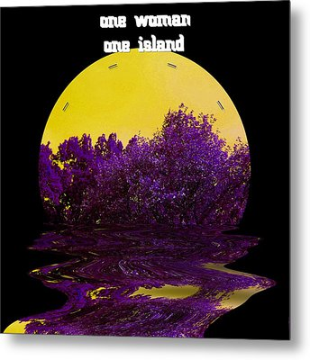 One Woman One Island Metal Print