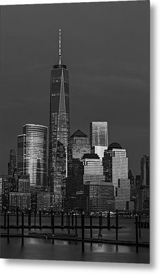 One World Trade Center At Twilight Metal Print by Susan Candelario