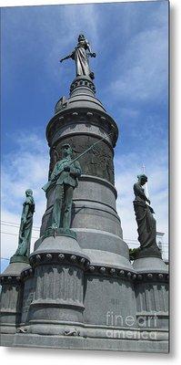 Oneida Square Civil War Monument Metal Print by Peter Gumaer Ogden