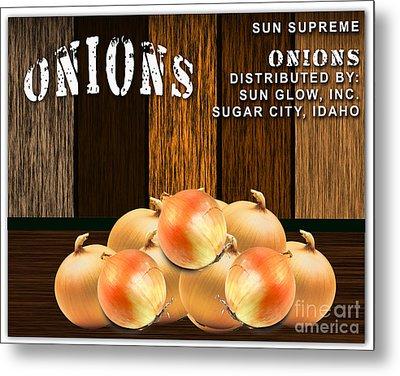 Onion Farm Metal Print