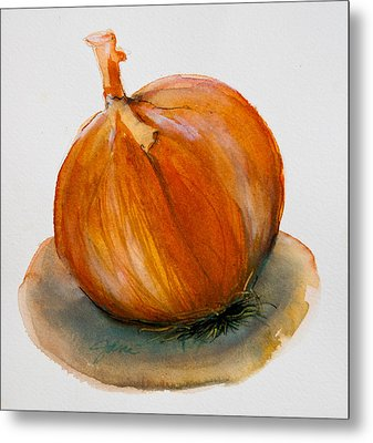 Onion Study Metal Print by Jani Freimann