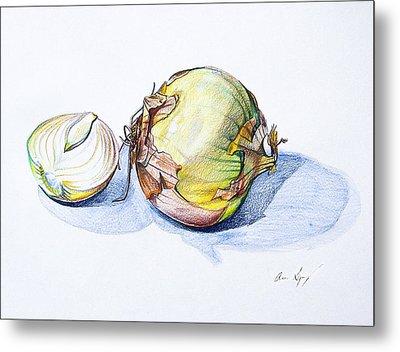 Onions Metal Print by Aaron Spong