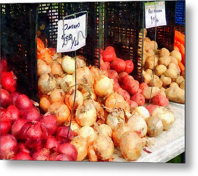 Onions And Potatoes Metal Print by Susan Savad