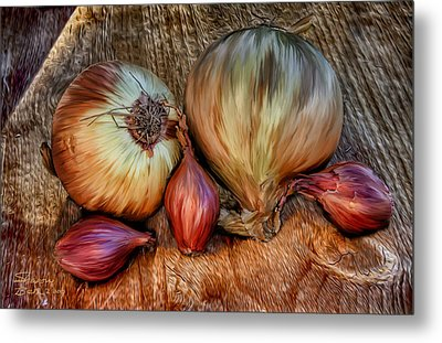 Onions And Scallions Metal Print