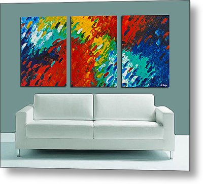Only Till Eternity Hung As A Triptych By Sharon Cummings Metal Print by Sharon Cummings