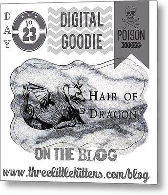 #ontheblog #today #day23 #free #digital Metal Print by Teresa Mucha