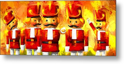 Onward Toy Soldiers Metal Print